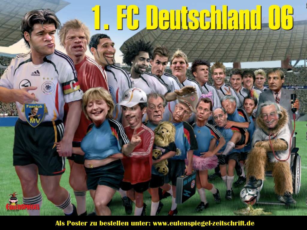 Wallpaper Karikatur Timnas Jerman World Cup 2006 Mein Symbian