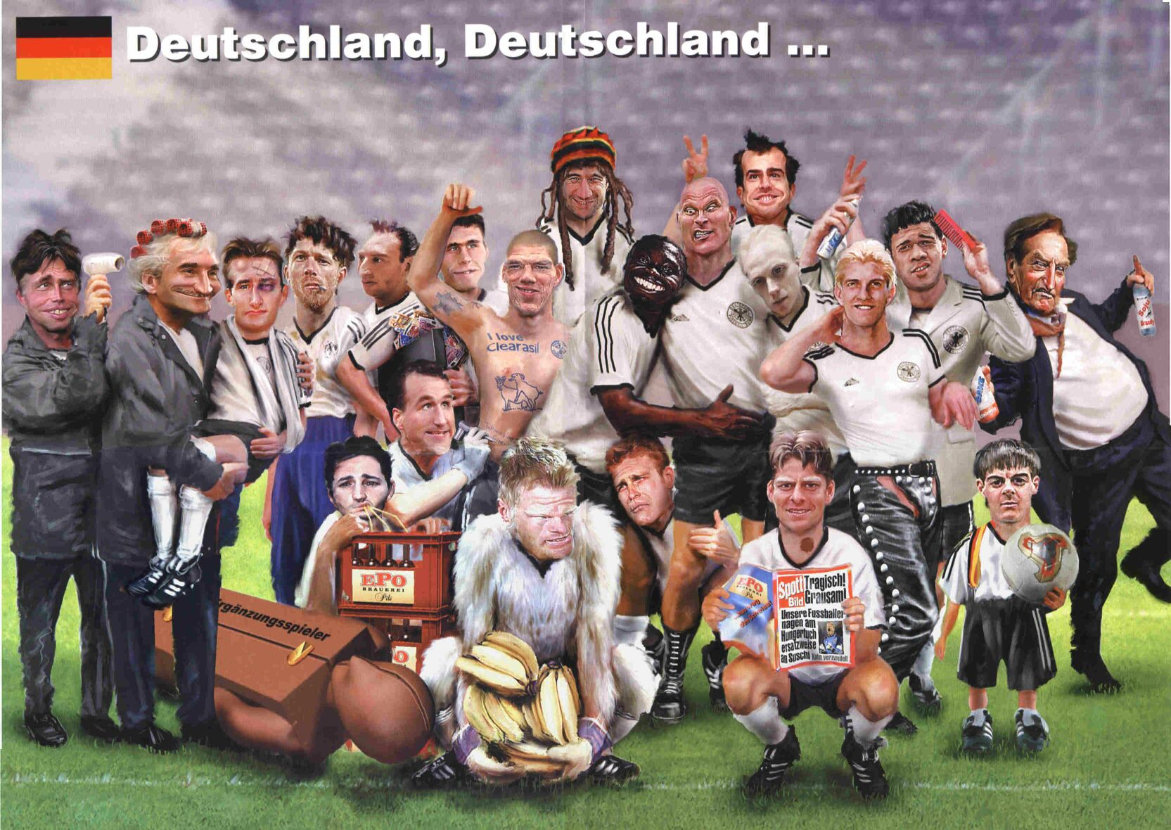 Wallpaper Karikatur Timnas Jerman World Cup 2002 Mein Symbian