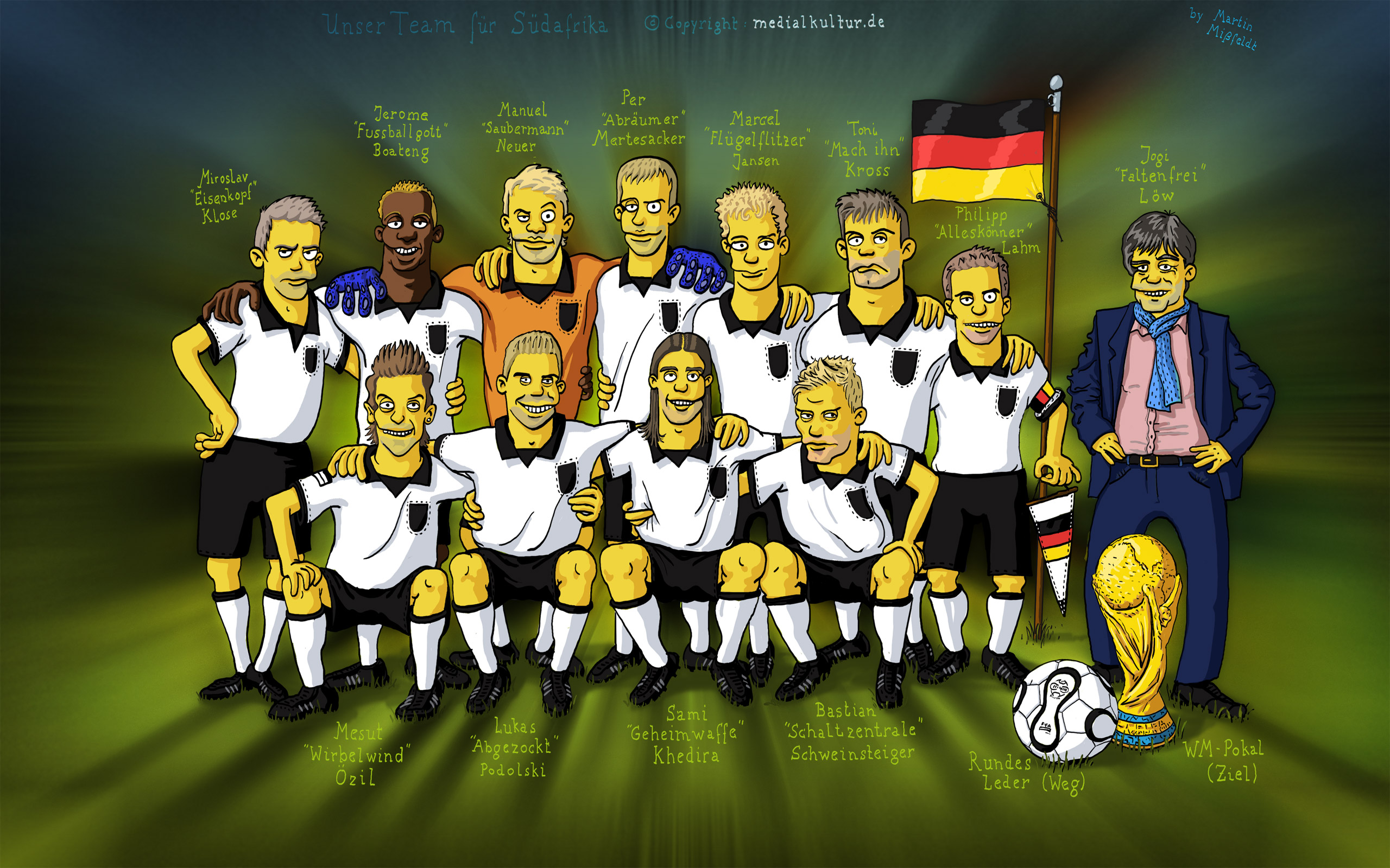 Wallpaper Karikatur Simpson Timnas Jerman World Cup 2010 Mein Symbian